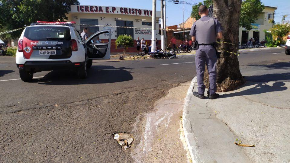 Motociclista ficou gravemente ferido — Foto: Divulgação