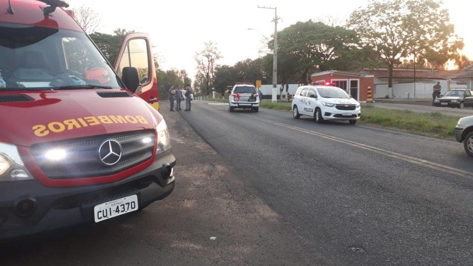 Crianças foram atropeladas por motorista embriagado — Foto: Diego Pereira/Portal Mais Tupã