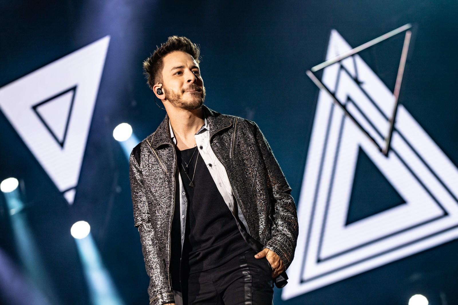 Junior em show da turnê 'Nossa História' em São Paulo, neste sábado (24) — Foto: Fábio Tito/G1