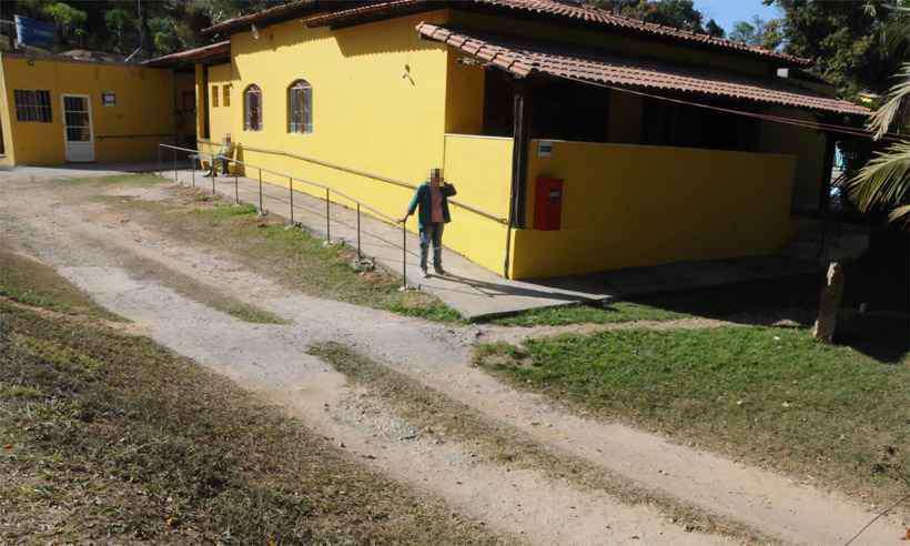 Asilo estava localizado na Rua José Pedro Soares, no Bairro Barreiro do Amaral — Foto: Paulo Filgueiras/EM/DA Press