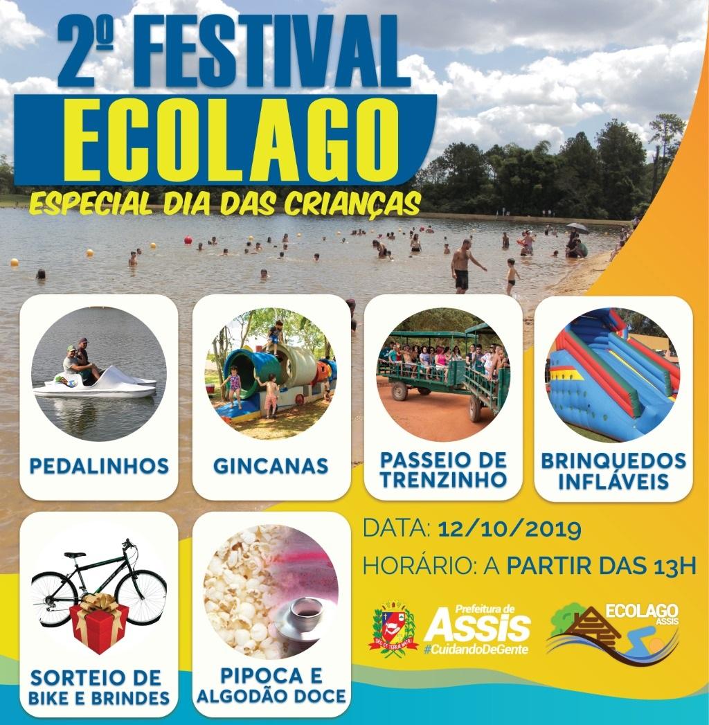 Prefeitura realiza Especial Dia das Crianças no Ecolago neste sábado, dia 12 — Foto: Divulgação/Prefeitura Municipal de Assis