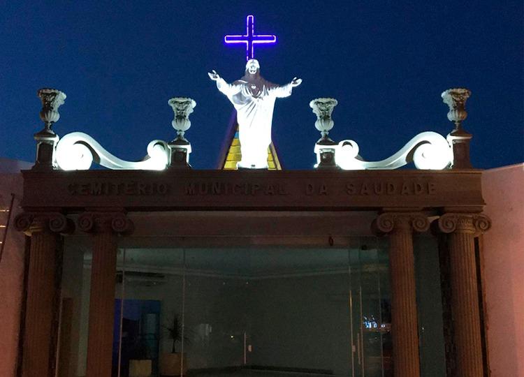 Prefeitura inaugura Portal do Cemitério da Saudade nesta quinta — Foto: Divulgação/Prefeitura Municipal de Assis