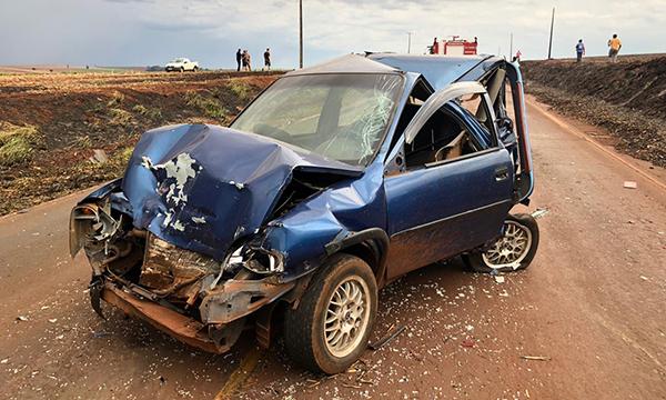 Incêndio nas margens da rodovia na região provoca vários acidentes — Foto: Reprodução