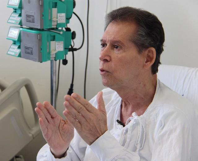 Vamberto Luiz de Castro, 62, é funcionário público aposentado de BH e sofria de um linfoma terminal — Foto: Hugo Caldato/Hemocentro RP/Divulgação