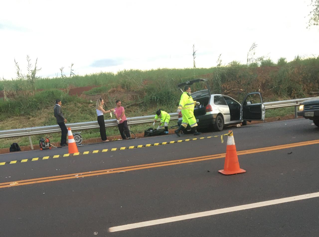 Grave acidente na Rodovia Miguel Jubran em Tarumã deixa um morto — Foto: Cedida ao Assis Notícias