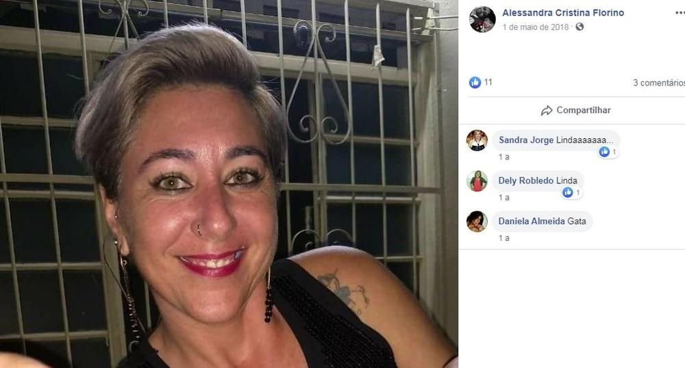 Alessandra Florino foi morta com golpes de faca em Pirajuí — Foto: Reprodução/Facebook