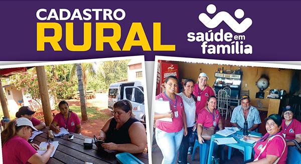 Florínea realiza recadastramento de famílias da zona rural — Foto: Prefeitura de Florínea