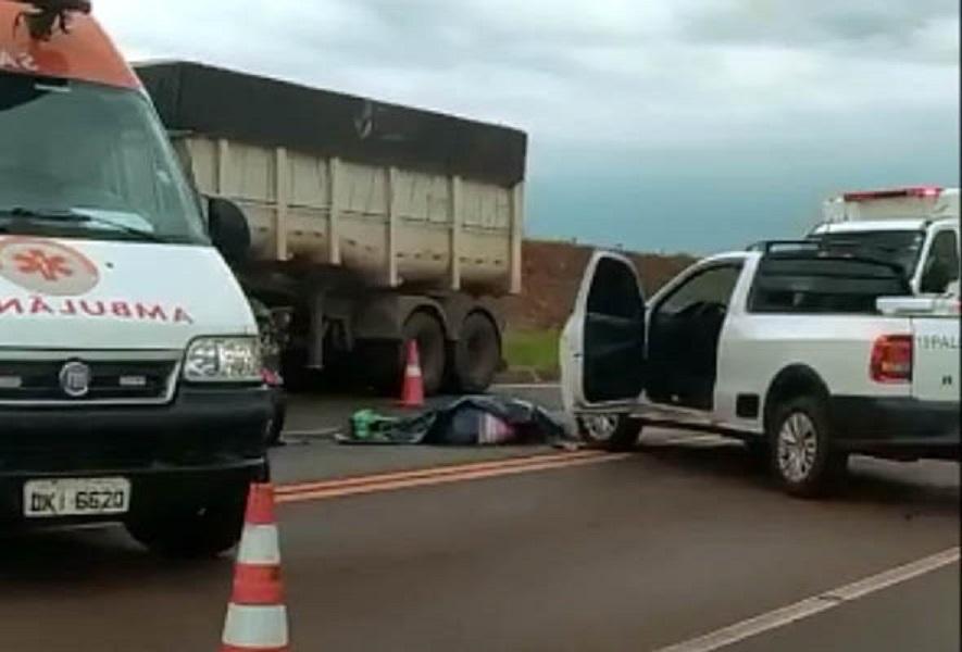 Motociclista morre em acidente em Palmital