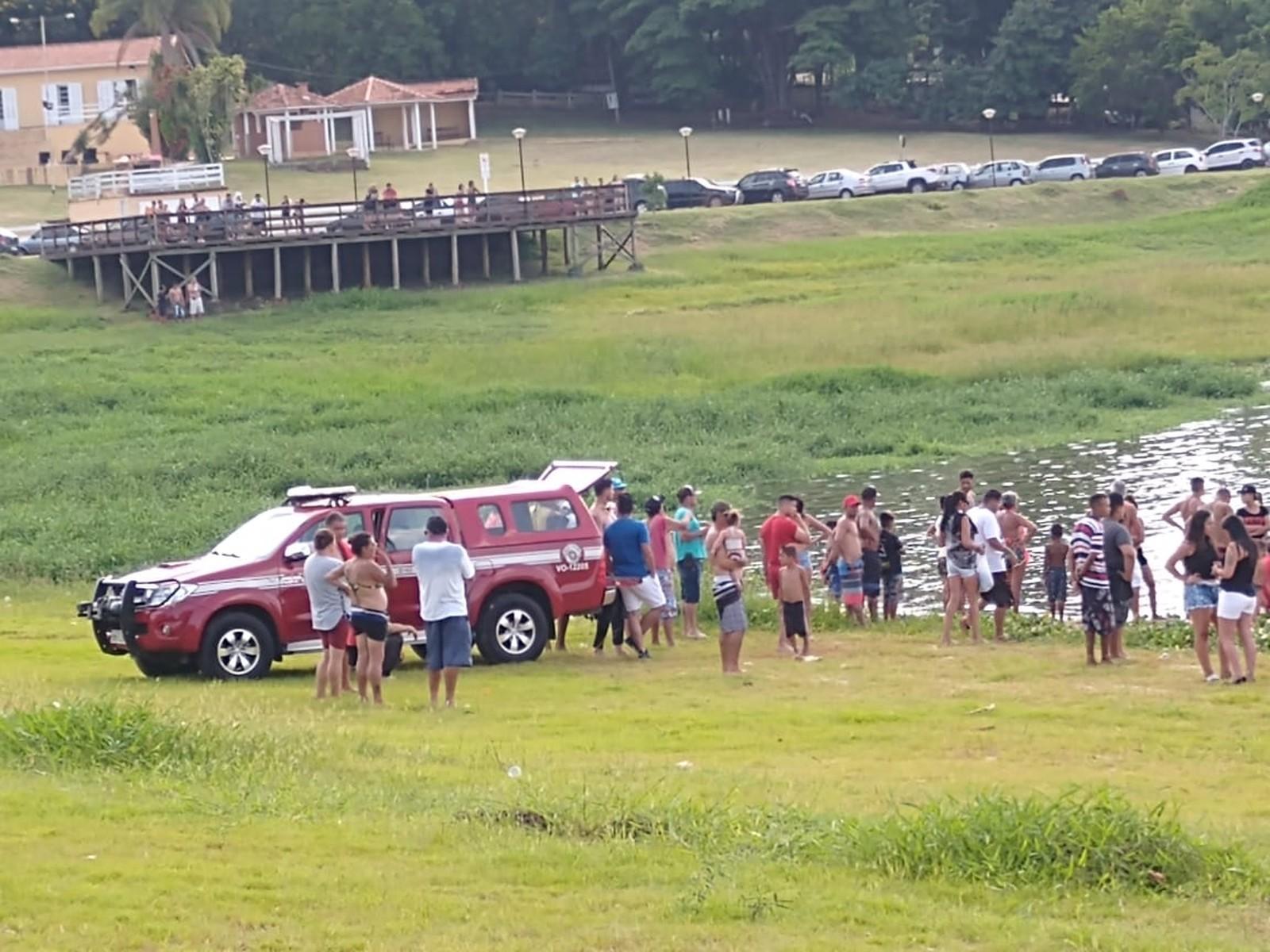 Corpo de Bombeiros faz buscas por pessoa que se afogou em rio de Botucatu — Foto: Arquivo Pessoal/Caren Fernanda Benevides de Almeida