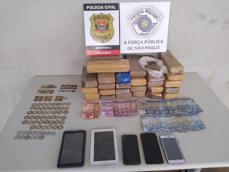 Operação apreende mais de 20 kg de drogas em sítio de Assis — Foto: Divulgação/Polícia Civil de Assis