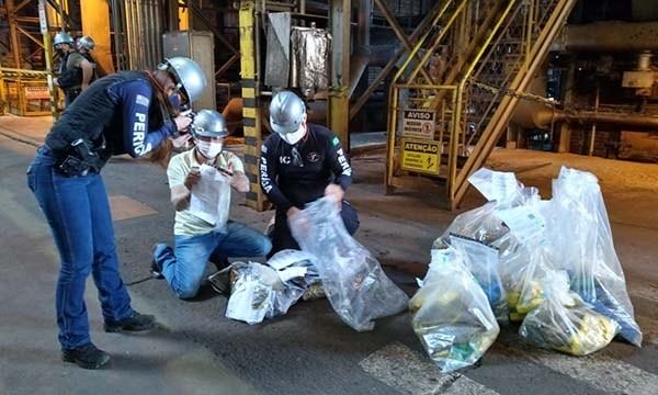 Delegacia de Florínea incinera mais de 90 quilos de drogas — Foto: Divulgação / Polícia