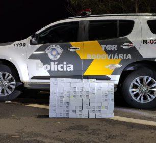 Polícia apreende celulares sem nota fiscal na Rodovia Raposo Tavares em Palmital — Foto: Polícia Rodoviária | Divulgação