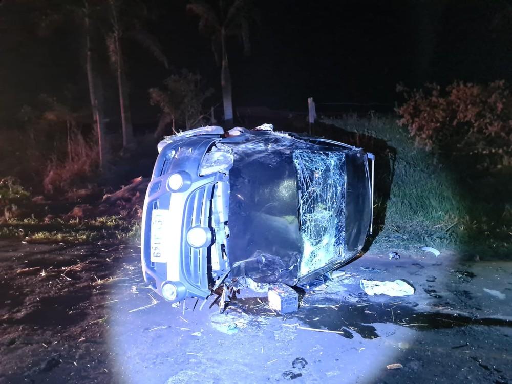 Motorista do carro fugiu em prestar socorro e ainda não foi localizado — Foto: João Trentini/ Divulgação