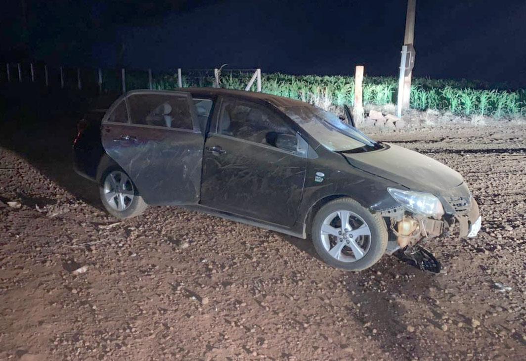 Carro envolvido no acidente— Foto: The Brothers | Cedida