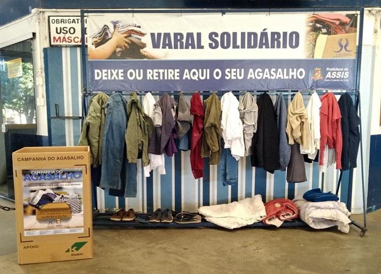 Varal Solidário incentiva moradores na doação de roupas — Foto: Divulgação | Prefeitura Municipal
