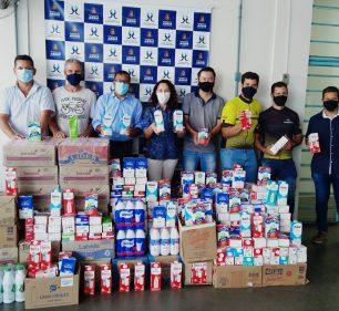 Pedal Solidário arrecada 1135 litros de leite destinados ao Fundo Social de Assis — Foto: Departamento de Comunicação